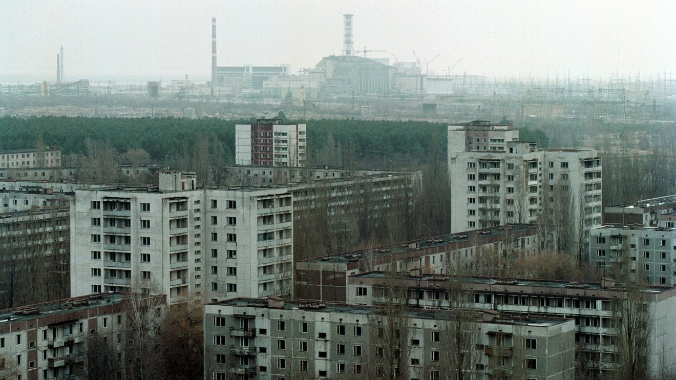 Haunting drone footage of a quarantined Chernobyl estate 30 years after the disaster
