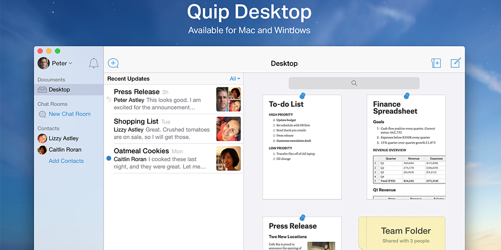 best productivity apps - quip
