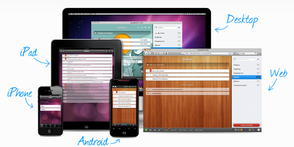 best productivity apps - wunderlist