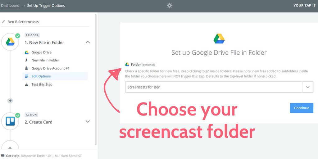 feedback process - gdrive folder