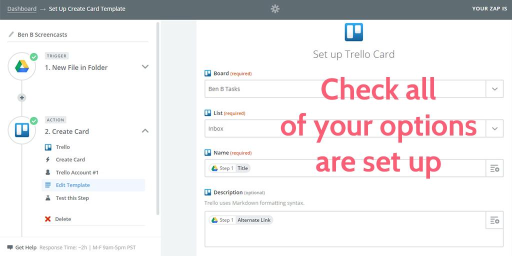 feedback process - trello set up