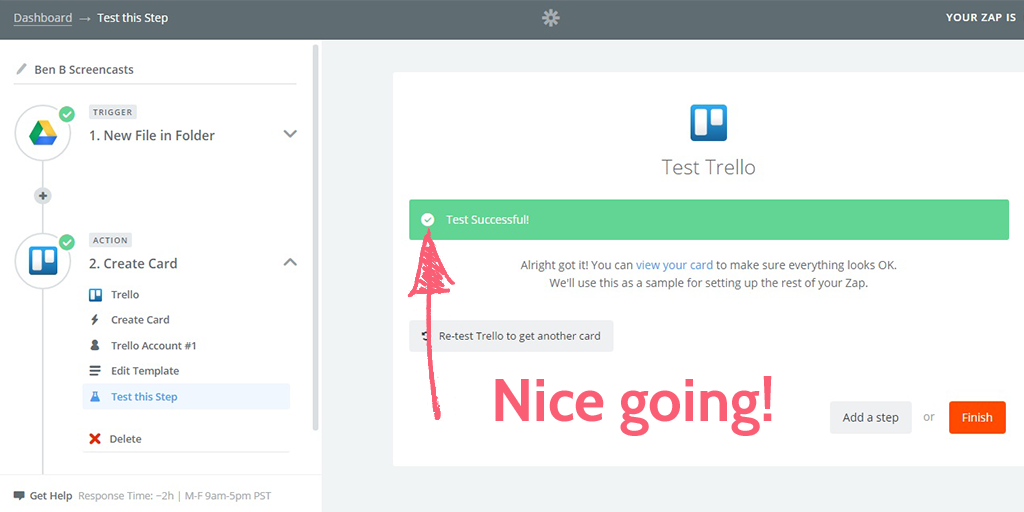 free screencasting apps - trello test