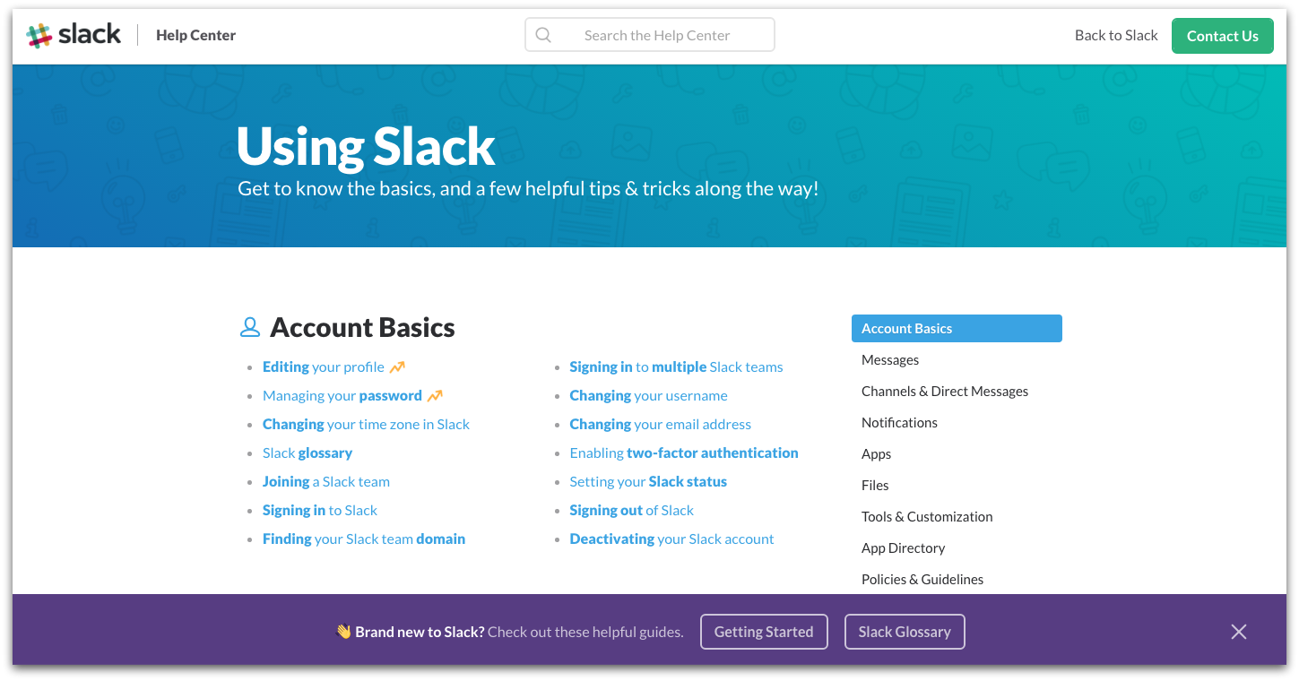 slack knowledge base-d
