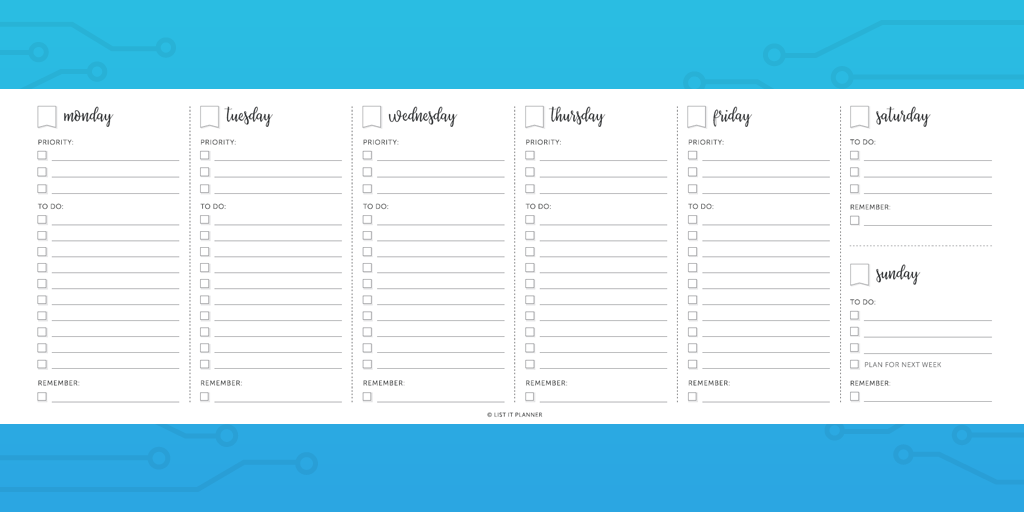 image relating to Printable Weekly to Do List named Just about every In direction of Do Listing Template Yourself Require (The 21 Most straightforward Templates