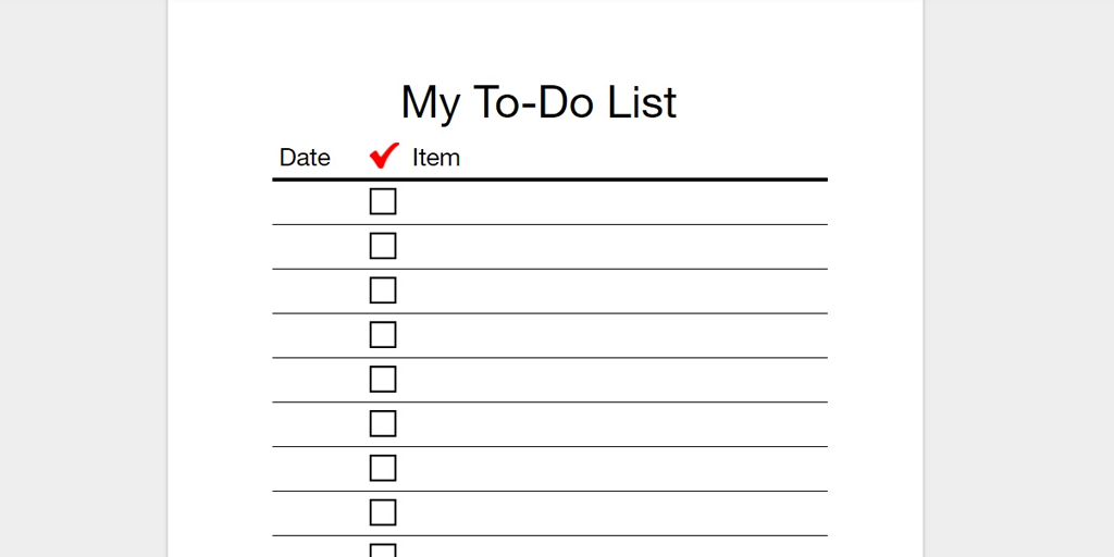 My To Do List  Editable Checklist Template