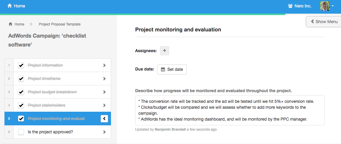 Project proposal project monitoring