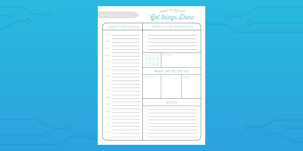 getting things done checklist update