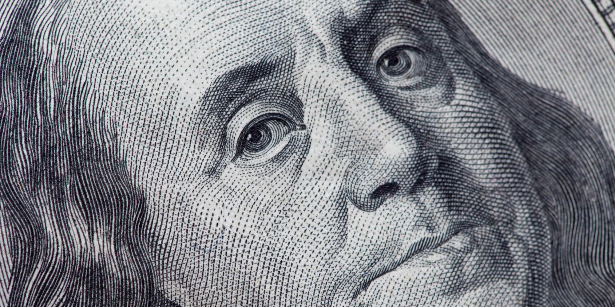 Closeup of Benjamin Frankin on US 00