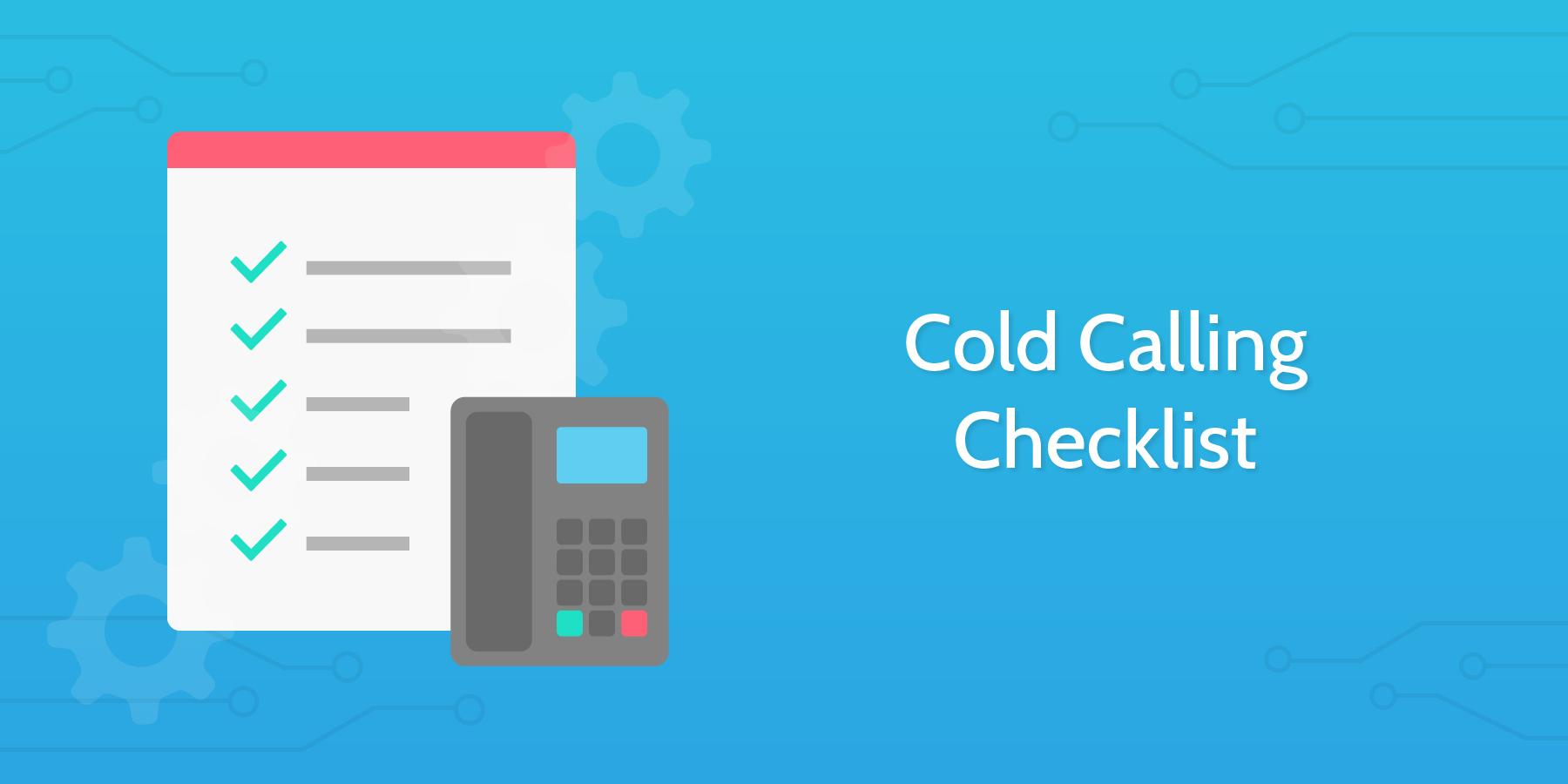 cold calling checklist