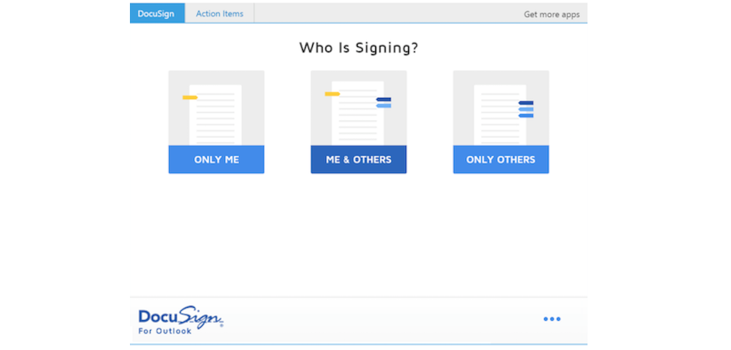 outlook extensions docusign