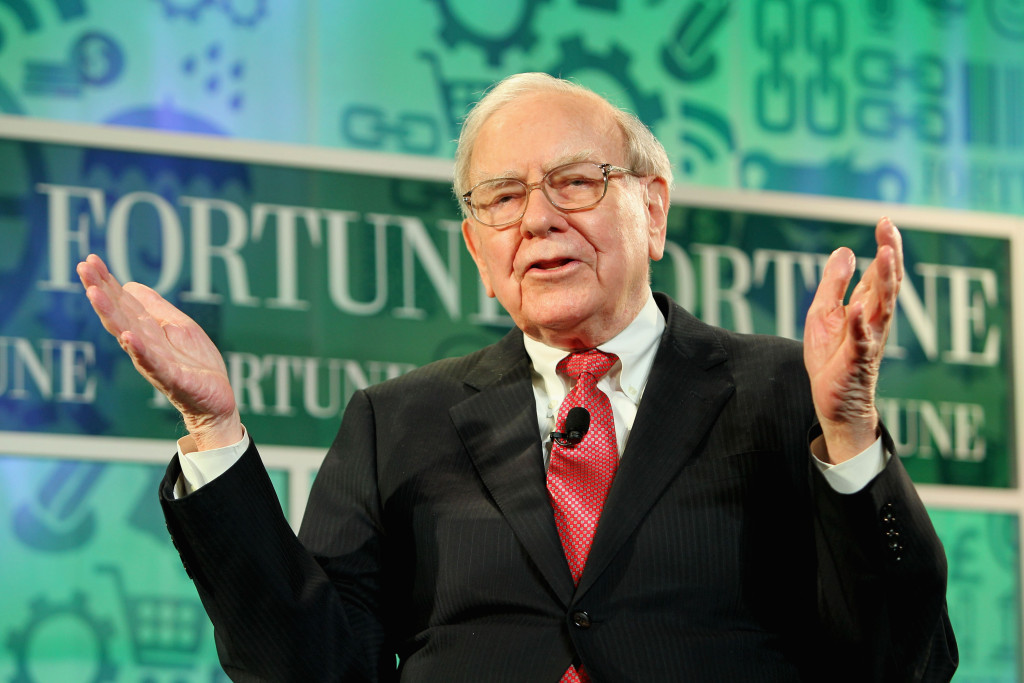 WASHINGTON, DC - OCTOBER 16: Warren Buffett speaks onstage at the FORTUNE Most Powerful Women Summit on October 16, 2013 in Washington, DC. (Photo by Paul Morigi/Getty Images for FORTUNE)