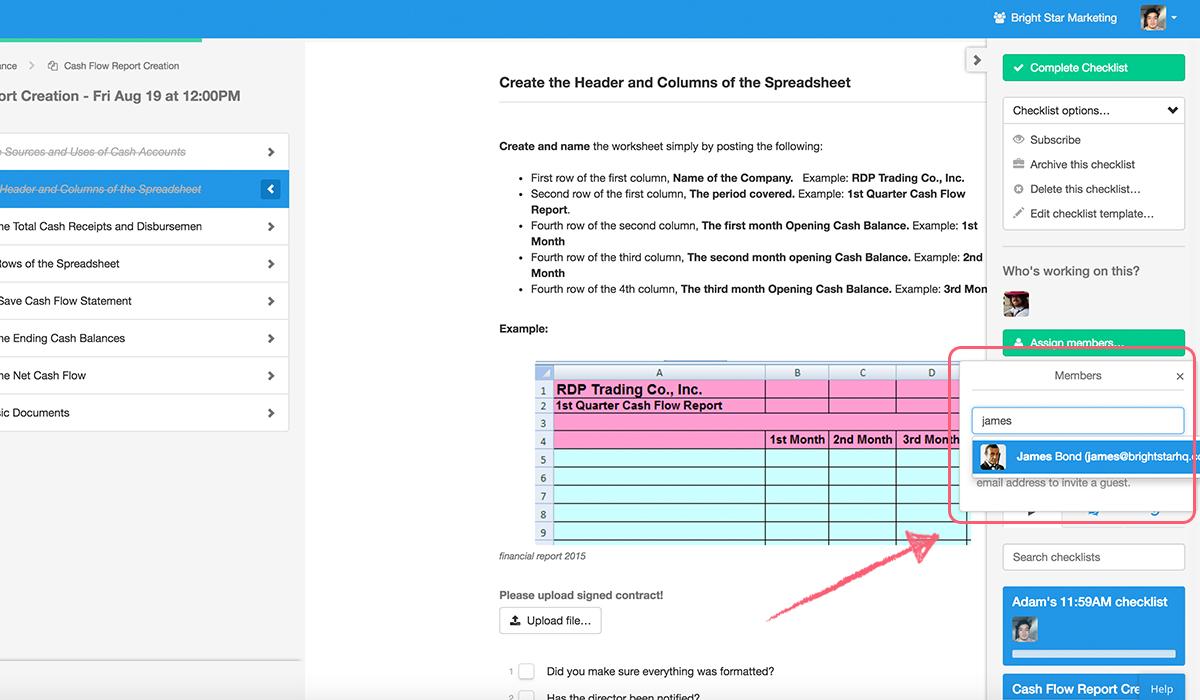 running-checklists-user-dropdown