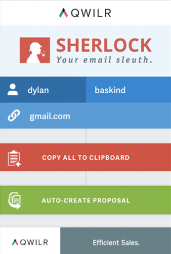 find email address - qwilr sherlock small