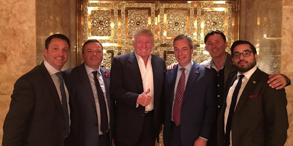 Leave EU team with Trump