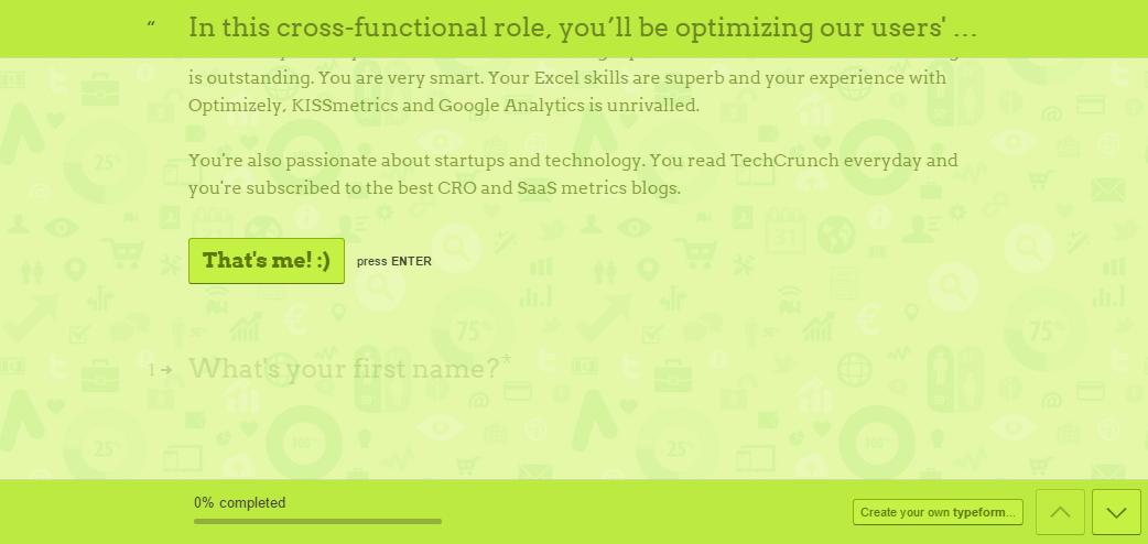 Typeform hiring workflow app