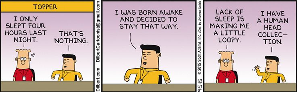 how to wake up early - dilbert