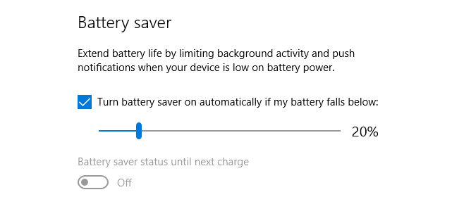 battery saver windows 10