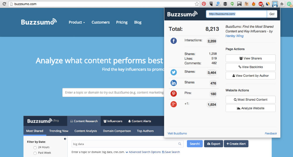buzzsumo best chrome extensions