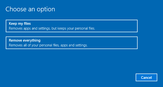 clean install options windows 10 tips