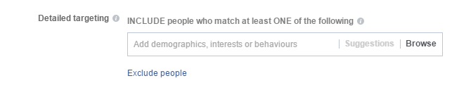 exclude people facebook targeting