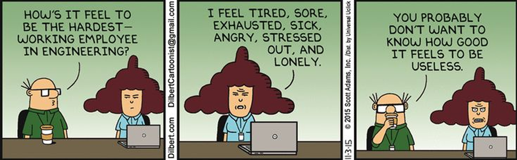 how to avoid distractions dilbert tired