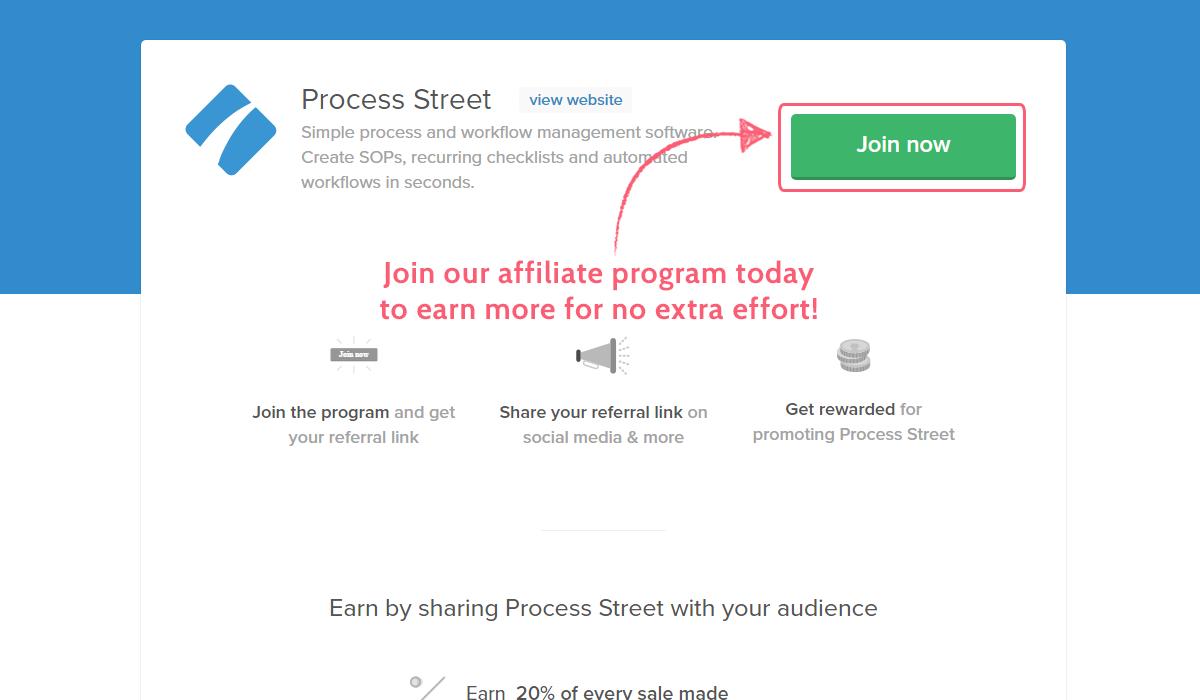 monetize processes process street partner program join now button