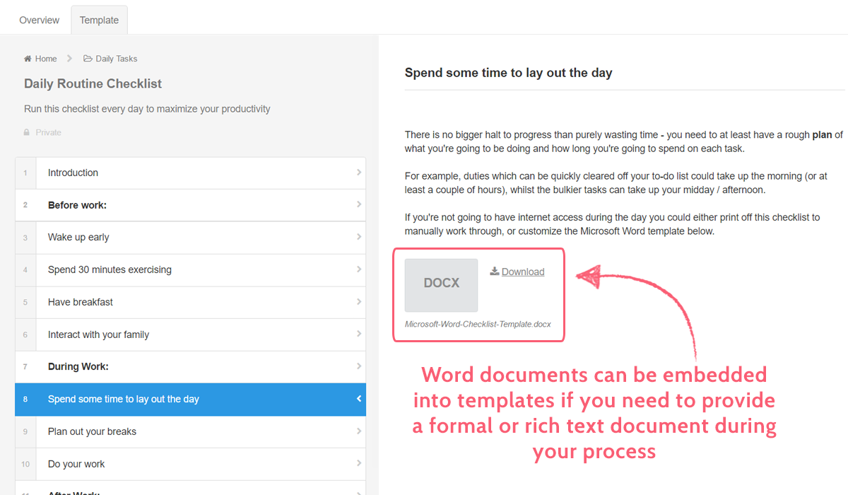 process documentation software - embed word doc