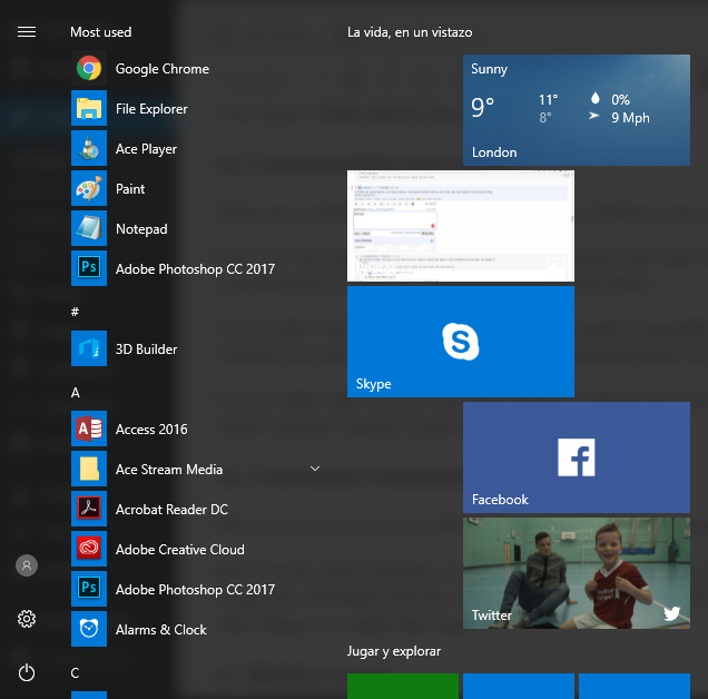 start menu windows 10 tips