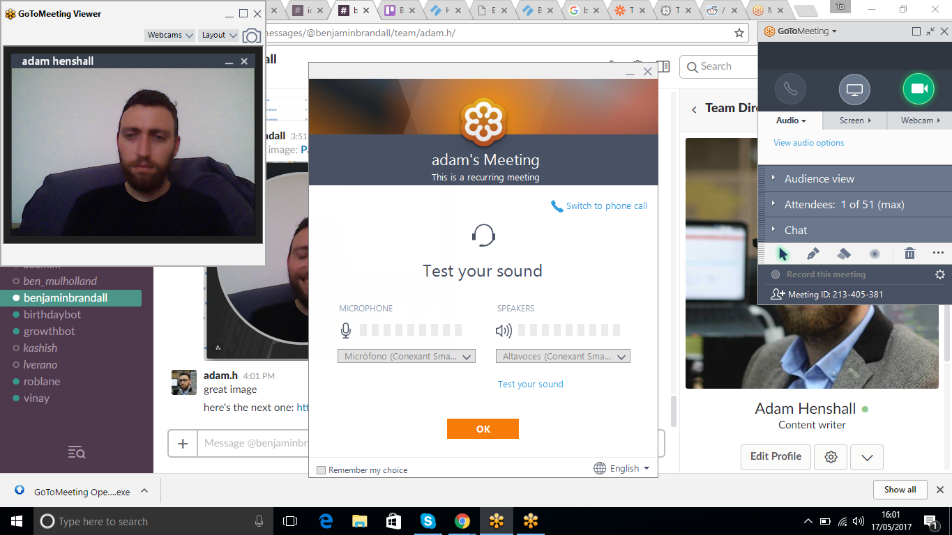 best video conferencing gotomeeting confusing screen