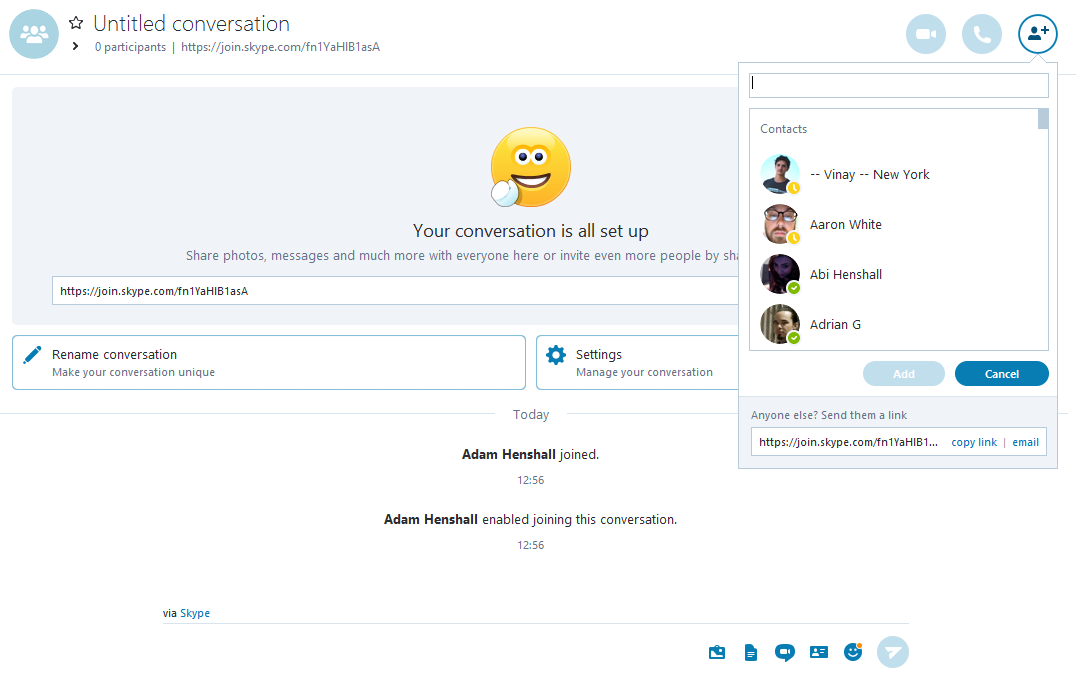 Best Video Conferencing Skype New Conversation