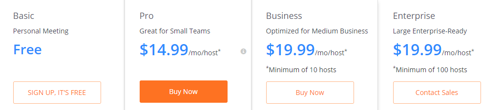 best video conferencing zoom pricing