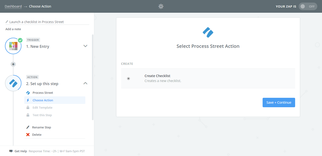 integrate process street with typeform ps trigger