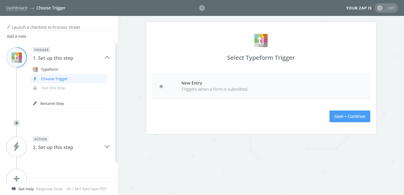 integrate process street with typeform survey trigger