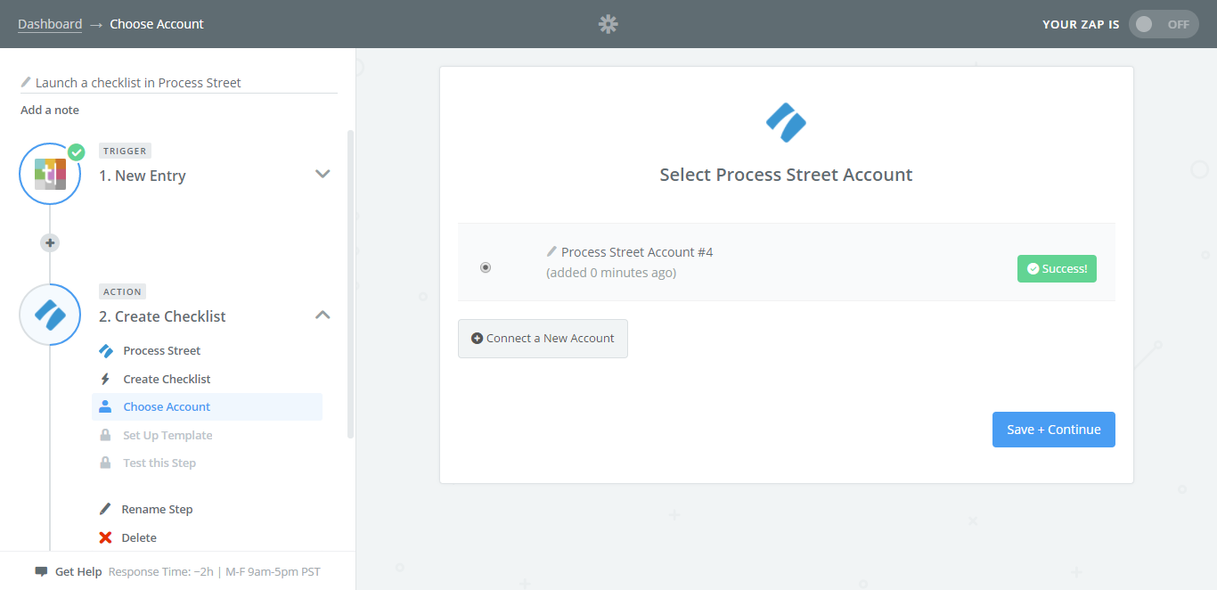 integrate process street with typeform trigger zapier connection