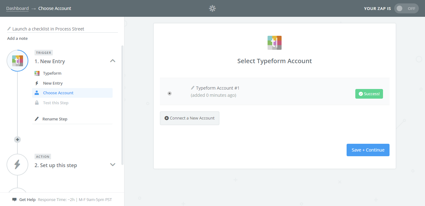 integrate process street with typeform zapier success