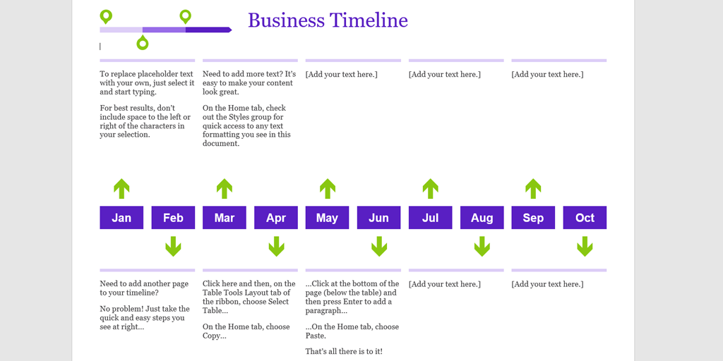 Timeline Template Business
