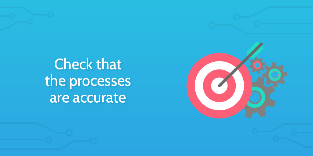 workflow analysis - check processes accurate