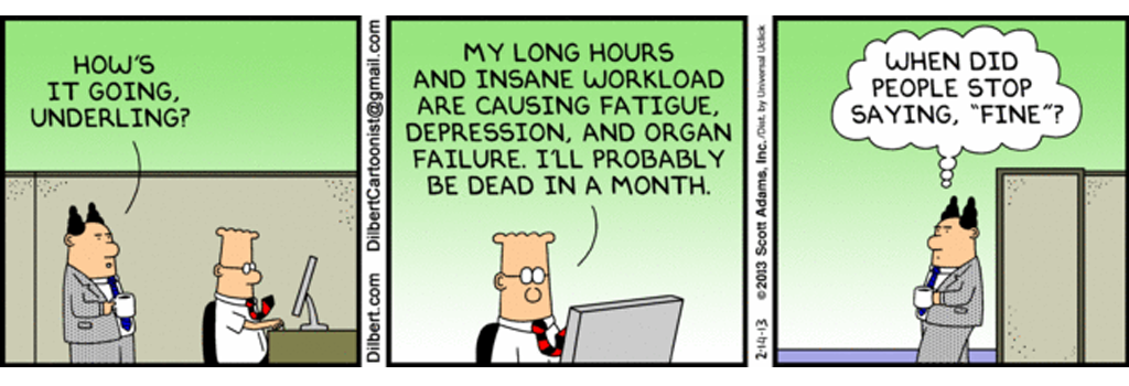 change management models - dilbert depression