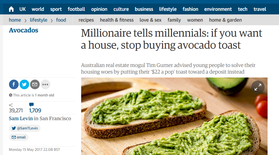 micro investing and crowdfunding avocado toast