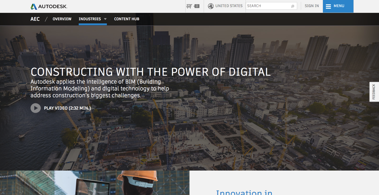 Autodesk homepage