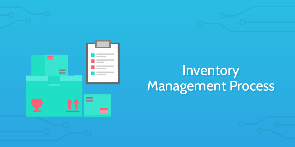 logistics management - inventory management process header