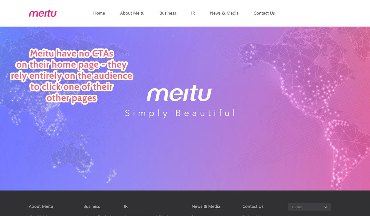 best home page - meitu ctas