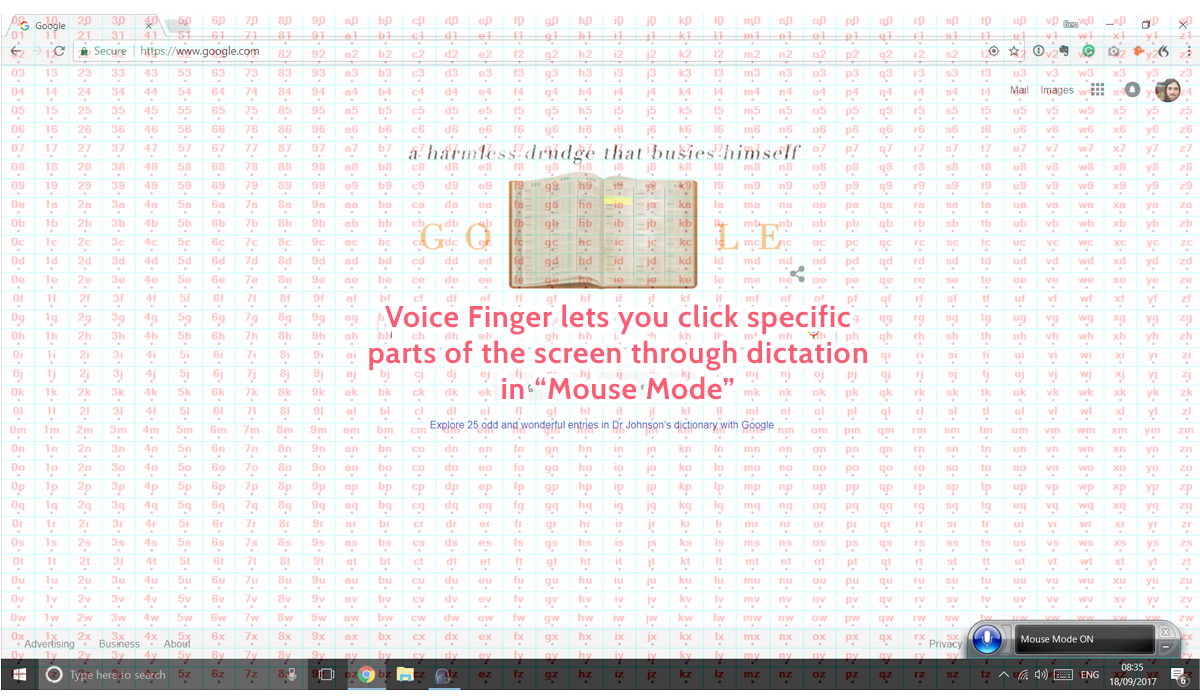 dictation software - voice finger mouse mode