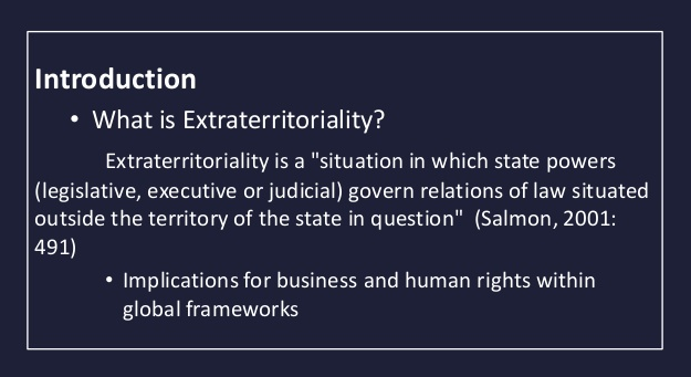 gdpr compliance extraterritoriality