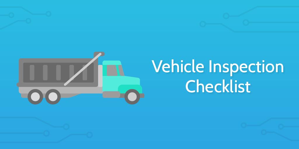 logistics templates - vehicle inspection checklist header