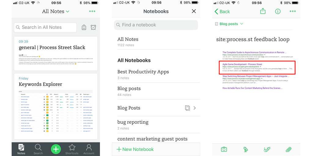 best mobile apps for business - evernote