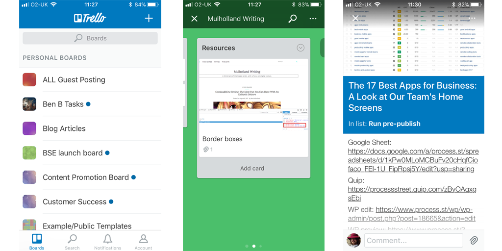 best mobile apps for business - trello