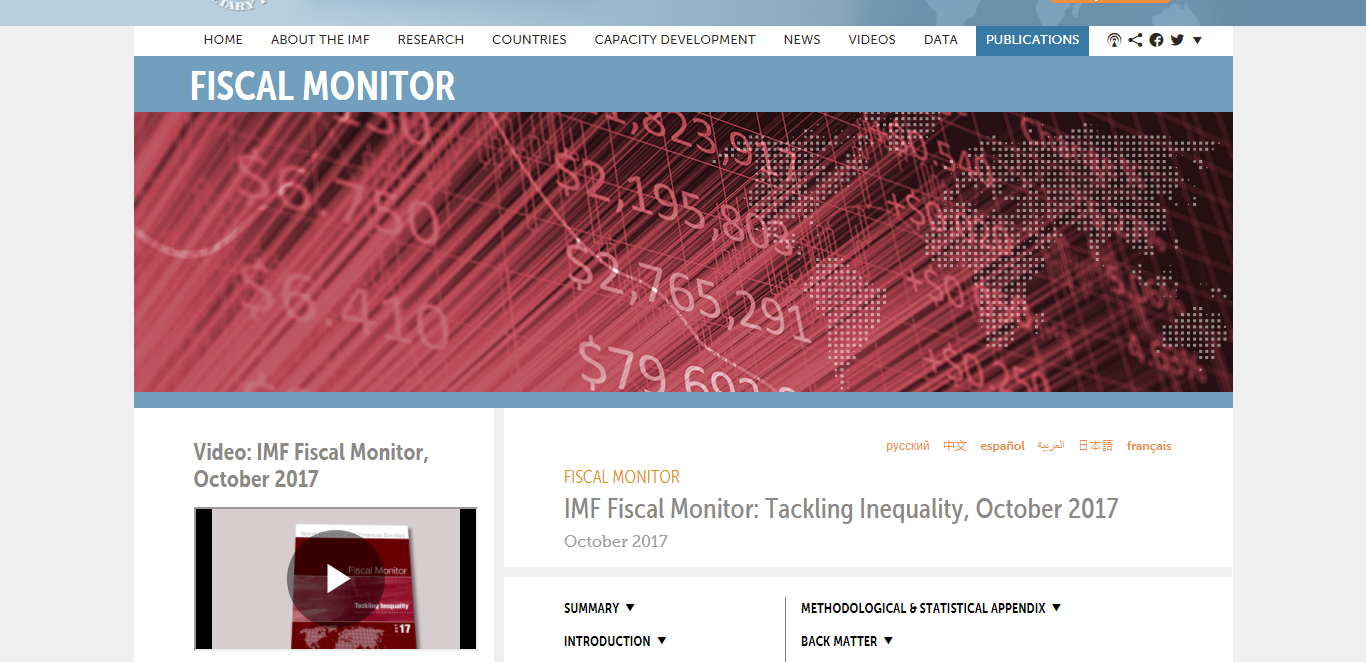 how to analyze an article imf fiscal monitor