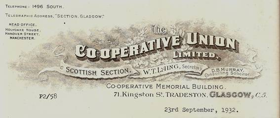 organizational structure cooperative union