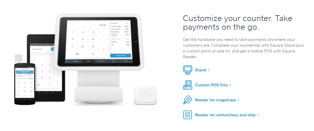 stripe paypal square braintree squareup pos